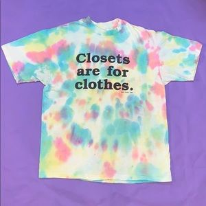 "Vintage ""Closets are for clothes"" t-shirt"